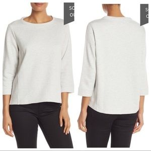 Eileen Fisher 3/4 Length Sleeve Solid Sweater